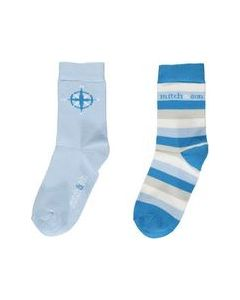Mitch & Son Boys Blue Cole Socks (2 Pack)