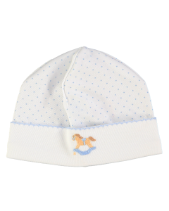 Mini-La-Mode Boys Rocking Horse Spot Baby Hat