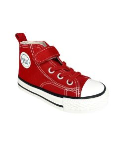 Mitch & Son Red Canvas High-Top Chuck Trainer
