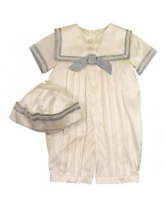 Sarah Louise Baby Boy's Silk Sailor Suit And Hat