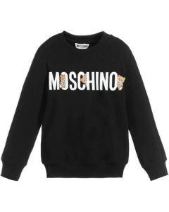 Moschino Kid-Teen Black Cotton Logo Toy Sweatshirt