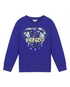 Kenzo Kids Boys Blue Cotton Sweatshirt