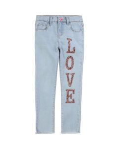 Billieblush Girls Blue Love Denim Jeans