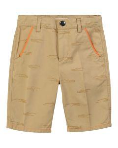 Billybandit Boys Beige Cotton Crocodile Shorts