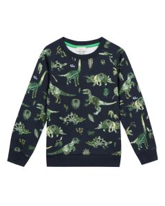 Paul Smith Junior Boys Blue 'Arturo' Cotton Sweatshirt