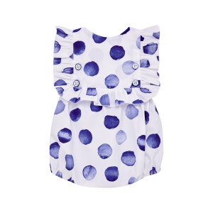 Paz Rodriguez Baby Girls White and Blue Spotty Shortie