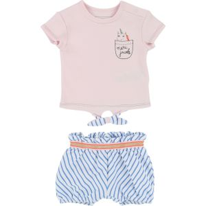 Little Marc Jacobs Girl's T-Shirt and Short Set