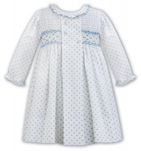 Sarah Louise Girls Ivory Hand Smocked Dress