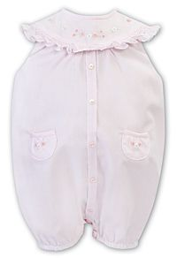 Sarah Louise Pink Embroidered Shortie