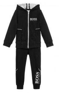 BOSS Kidswear  Black Logo Tracksuit