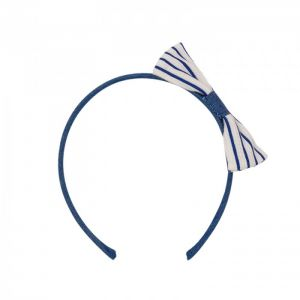 Paz Rodriguez White And Denim Blue Headband