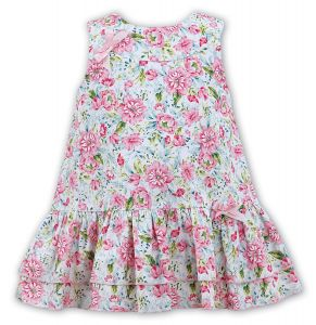 Sarah Louise Girls Pink Floral Dress