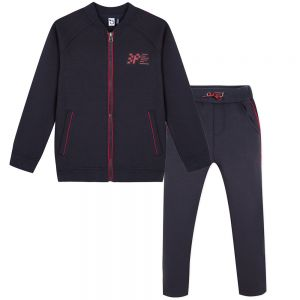 3Pommes Boys Navy Blue Racing Tracksuit