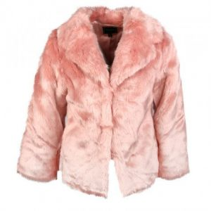 Guess Pink Faux Fur Coat