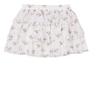 3Pommes Girl's Ivory Chiffon Skirt