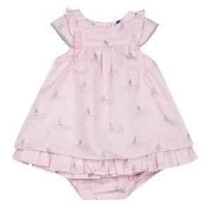 3Pommes Baby Girl's Sailboat Pink Dress