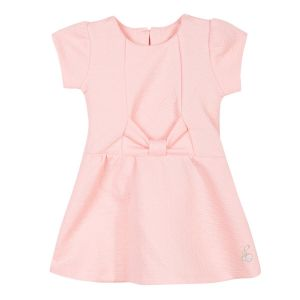 3Pommes Pink Jacquard Dress