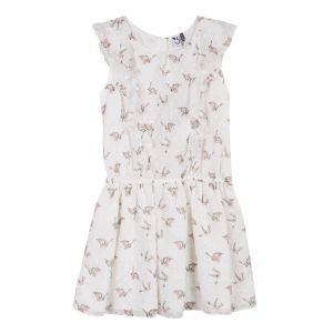 3Pommes Girl's Ivory Chiffon Dress