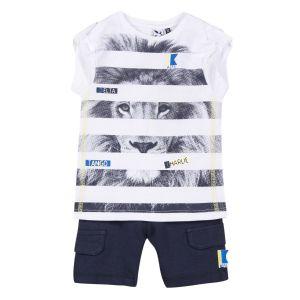 3Pommes Boy's 2 Piece Lion Outfit