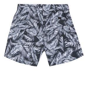 3Pommes Boy's Navy Tropical Swim Shorts