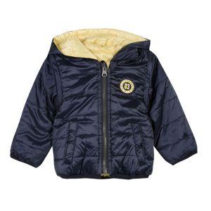 3Pommes Baby Boy's Reversible Navy/Yellow Coat