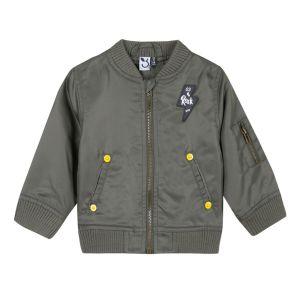 3Pommes Satin Khaki Jacket