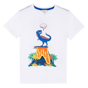 Paul Smith Junior 'Rimini' Dinosaur White T-Shirt