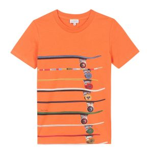 Paul Smith Junior Boy's Orange 'Relay' T-Shirt