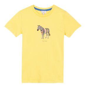 Paul Smith Junior Boy's 'Romano' Yellow Zebra Print T-Shirt