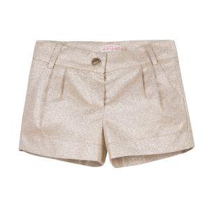 Lili Gaufrette Girl's Glittery Gold Shorts