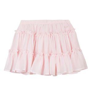 Lili Gaufrette Girl's Pink Crepe Skirt