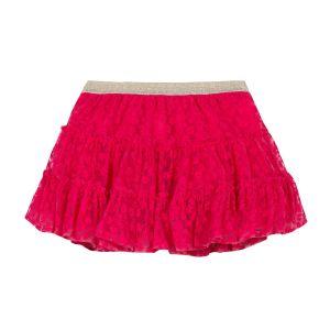 Lili Gaufrette Girl's Pretty Lace Fuchsia Skirt