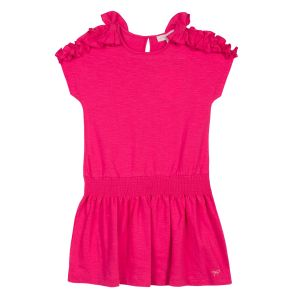 Lili Gaufrette Pink Cotton Dress