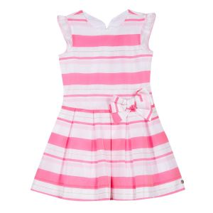Lili Gaufrette Girl's Pink Striped Dress