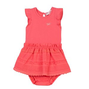 Lili Gaufrette Coral Pink Dress