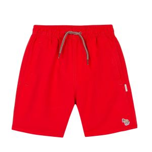 Paul Smith Junior Red 'Rake' Swim Shorts