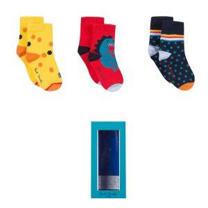 Paul Smith Junior 'Robot' Sock Gift Set (3 Pack)