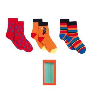 Paul Smith Junior Red 'Rowen' Socks Gift Set