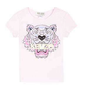 Kenzo Kids Girl's Pink Tiger T-Shirt