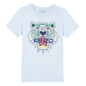 Kenzo Kids Pale Blue Tiger T-Shirt