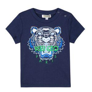 Kenzo Kids Navy Blue Tiger T-Shirt