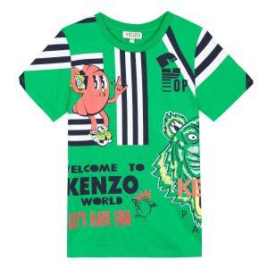 Kenzo Kids Boy's Green Food Fiesta T-Shirt