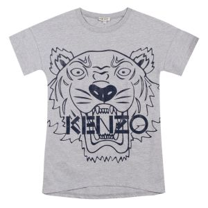 Kenzo Kids Girl's Grey Tiger Jersey Dress
