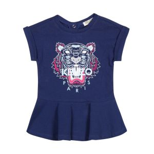 Kenzo Kids Girl's Navy Blue Tiger Dress