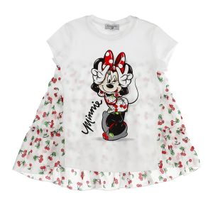 Monnalisa Girls White Disney  Minnie Mouse Tunic Top