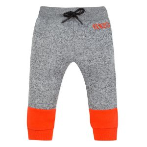 Kenzo Kids Boys Grey and Orange Cotton Joggers