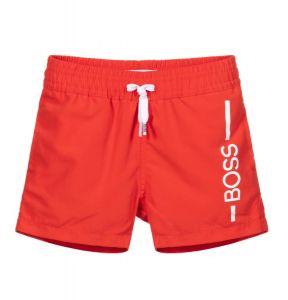 BOSS Kidswear Bright Red Logo Swim Shorts