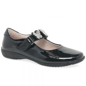 Lelli Kelly Black Patent Love School Shoes (G Fitting)