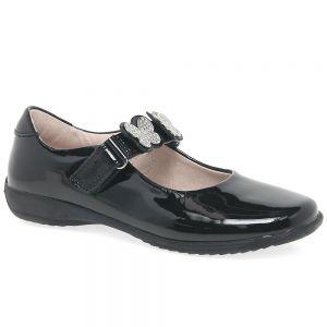 Lelli Kelly Black Patent Love School Shoes (G Fitting)