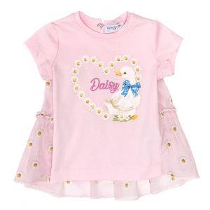 Monnalisa Bebé Cotton Daisy Duck Tunic Top
